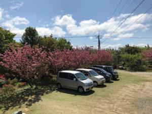 月見草苑の駐車場は15台